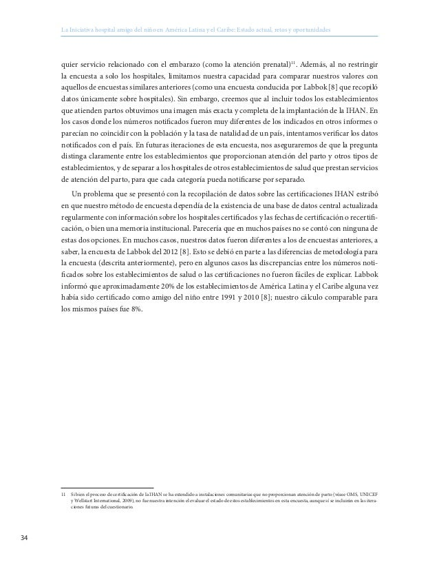 Hospital Amigo del Niño - Baby Friendly Hospital: estado atual, retos…