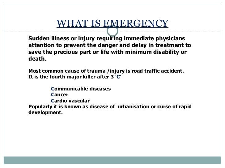 Hospital emergency services Slide 2