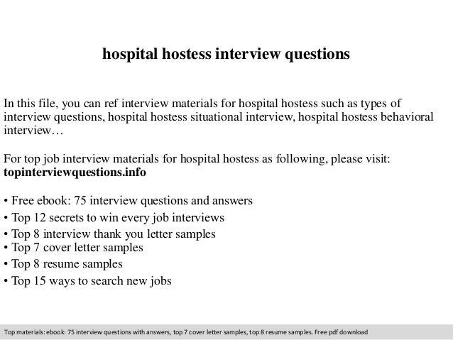 Hospital hostess interview questions