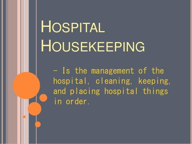 Hospital Housekeeping