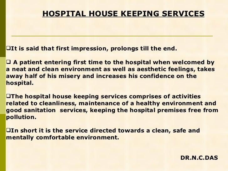 hospital housekeeping services rh slideshare net Daily Housekeeping Training hospital housekeeping training manual pdf