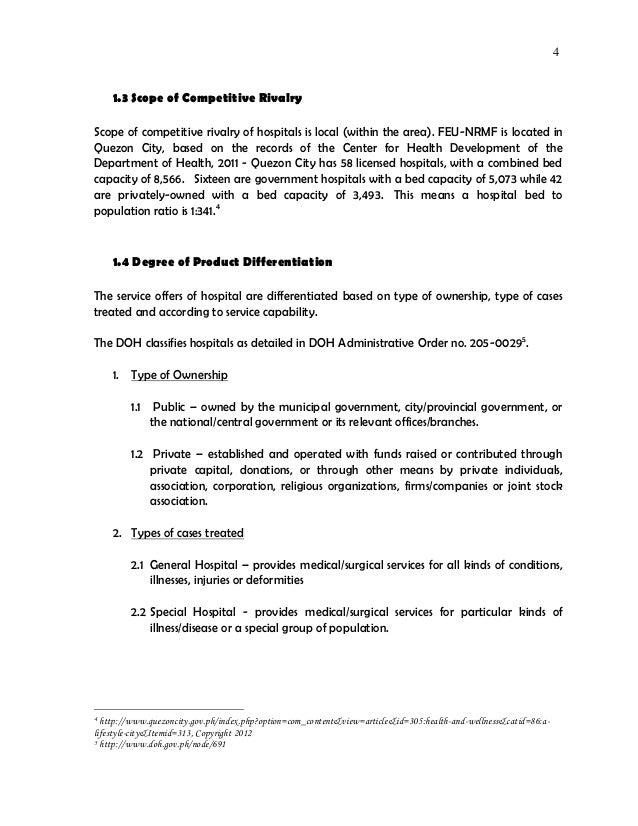 Strategic Management Paper - Hospital industry analysis