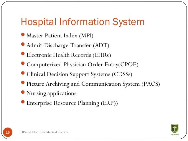 Hospital Information Systems His