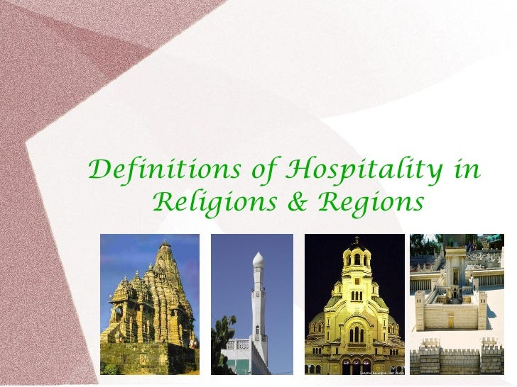 Definitions Of Hospitality In Religions Regions