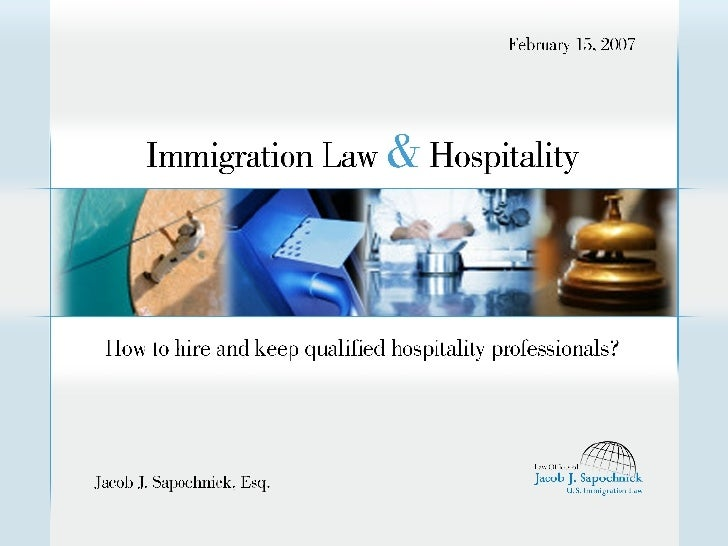 Hospitality and Immigration Law - Visas for Chefs, Cooks, and Other Workers