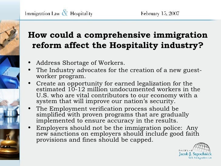 Immigration and hospitality industry