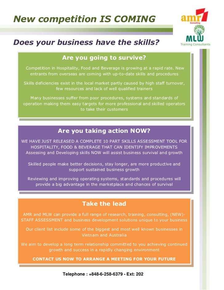 New competition IS COMINGDoes your business have the skills?                     Are you going to survive?   Competition i...