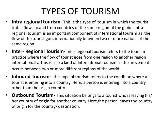 types of tourism services