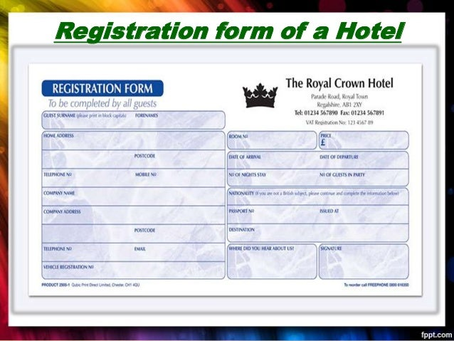 hotel check in form pdf