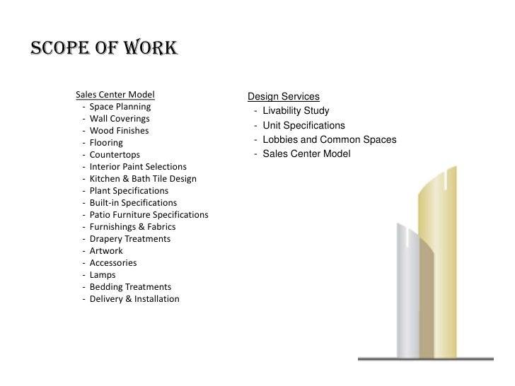 Scope for interior designing
