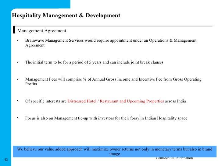 Hospitality management team operation management agreement 42 platinumwayz