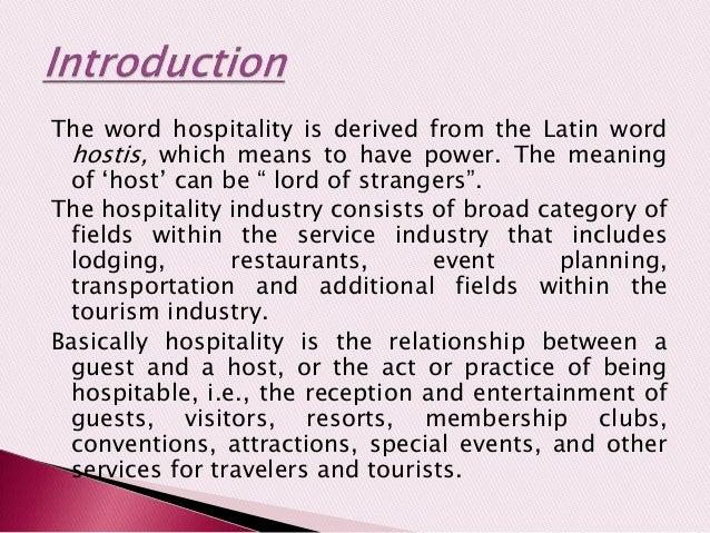 host guest relationship tourism definition