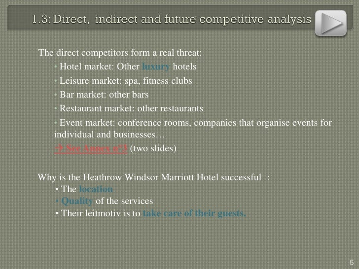 Free Marketing Plan Sample Of Windsor Marriott Heathrow London, By Ww…
