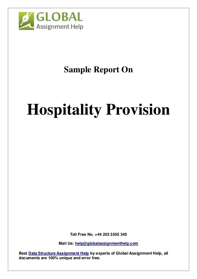sample on hospitality provision by global assignment help toll no 44 203 3555 345 mail us help globalassignmenthelp
