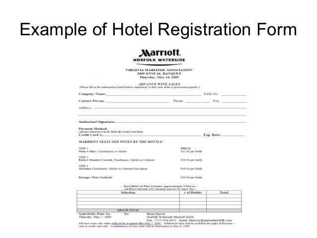 Hospitality report