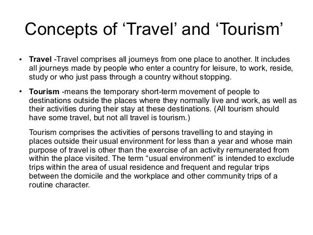 what does hospitality and tourism mean