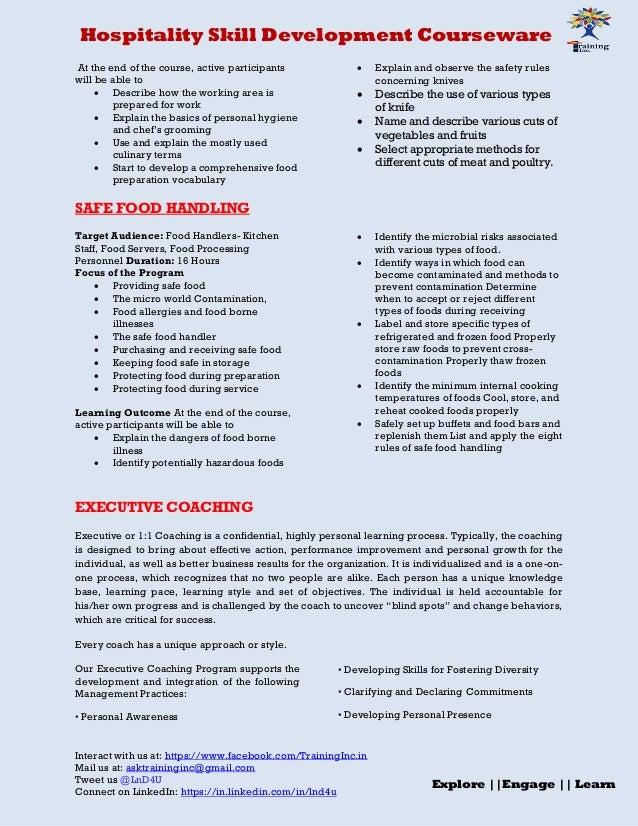 Hospitality Skill Development Courseware