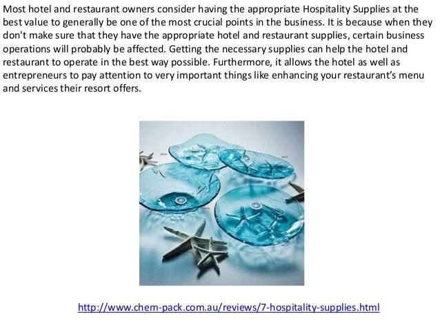 Hospitality supplies Slide 2