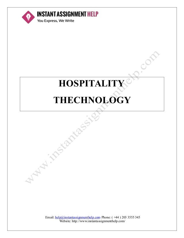 hospitality technology assignment sample