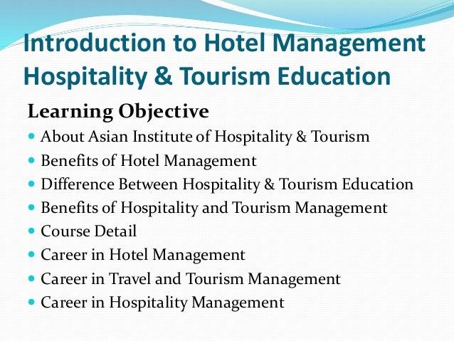 Hospitality and hospitality management