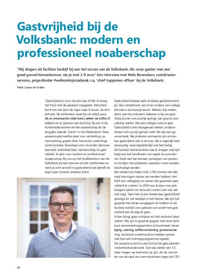 Gastvrijheid bij de Volksbank, interview met Niels Berendsen
