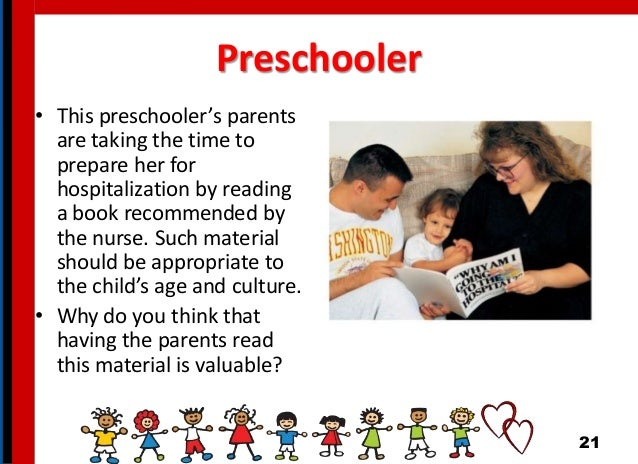 Preschooler • This preschooler's parents are taking the time to prepare her for hospitalization by reading a book recommen...