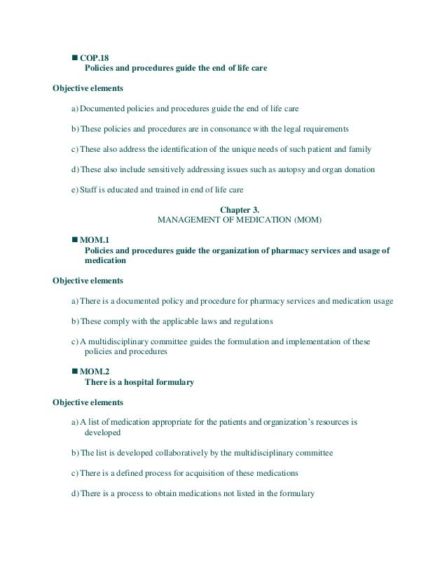 hospital management nabh rh slideshare net Transportation Policies and Procedures Template Sample Policies and Procedures Manual