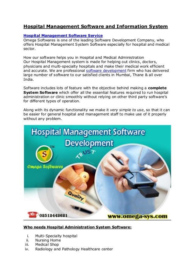 development of hospital management system Design and development of online hospital management information system harpreet kaur1 & dinesh grover2 assistant professor, school of electrical engineering & it, pau, ludhiana, india.