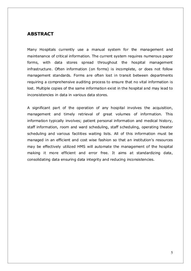 abstract exampe inventory system thesis The abstract allows you to elaborate upon each major aspect of the paper and helps readers decide whether they want to read the rest of the paper therefore, enough key information [eg, summary results, observations, trends, etc] must be included to make the abstract useful to someone who may want to examine your work.