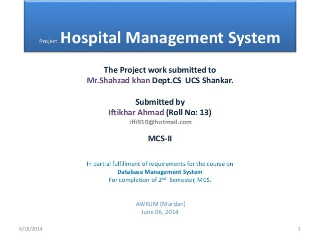 Hospital management system(database)