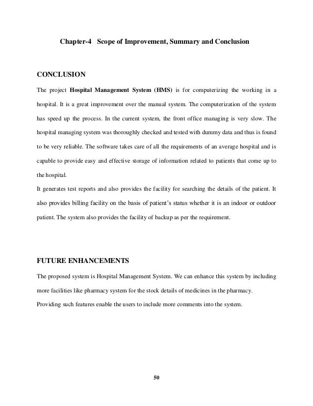Hospital Management System Project