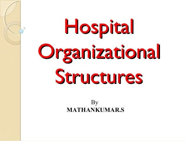 HospitalHospital OrganizationalOrganizational StructuresStructures By MATHANKUMAR.S