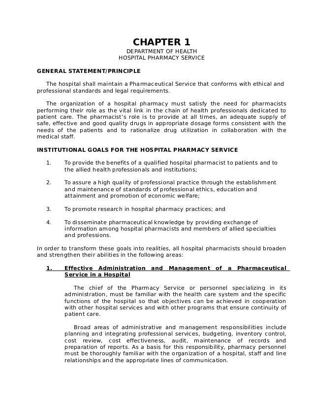 Hospital Pharmacy Service