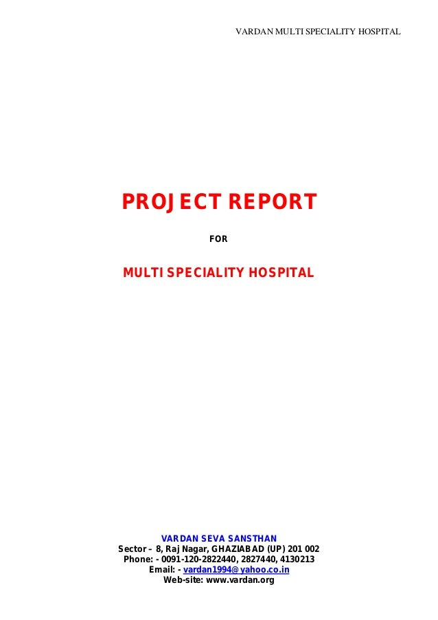 Hospital project report