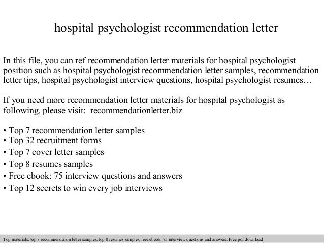 Hospital psychologist recommendation letter 1 638gcb1409087713 hospital psychologist recommendation letter in this file you can ref recommendation letter materials for hospital recommendation letter sample spiritdancerdesigns Image collections