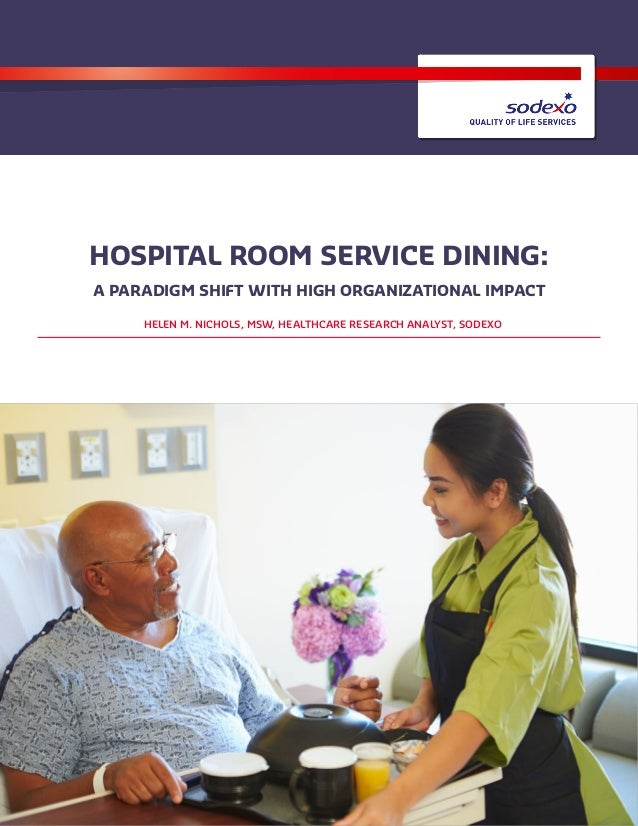 Hospital room service dining: organizational impact