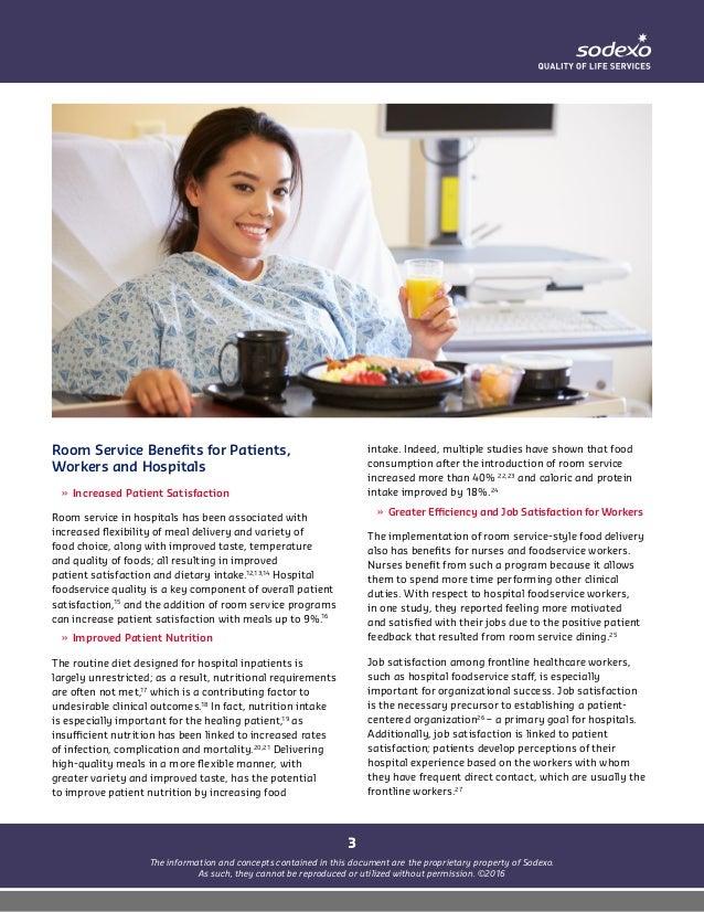 Hospital room service dining: organizational impact