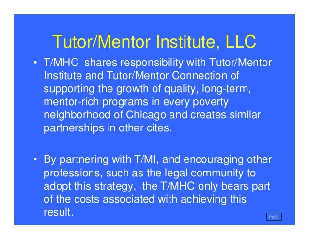 Forming Hospital Tutor/Mentor Connection - vision