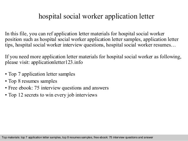 Marvelous Hospital Social Worker Application Letter In This File, You Can Ref Application  Letter Materials For ...