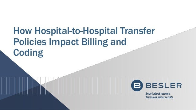 How Hospital-to-Hospital Transfer Policies Impact Billing and Coding