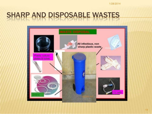 1/28/2014  SHARP AND DISPOSABLE WASTES  19