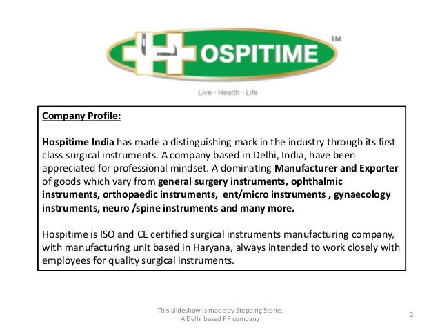 Hospitime Manufacturer and Exporter of Surgical Instruments