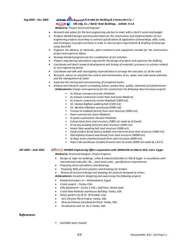 hossam civil structural engineer cover letter cv resume 3 09 2015