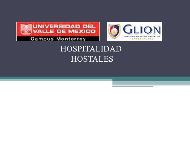 HOSPITALIDAD  HOSTALES