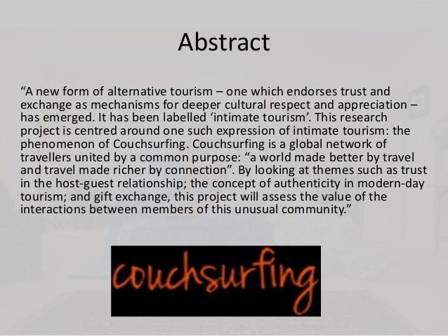 reciprocity and free hospitality concept couchsurfing 2011) is the hospitality platform couchsurfing where members of- fer shelter and  oftentimes  free accommodation are somewhat straightforward, the motivations  of the hosts  revisit notions of reciprocity in hitherto existing theories on sharing  existing  sion on sharing in that it introduces the idea of experience sharing.