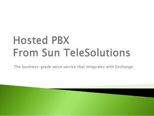 The business-grade voice service that integrates with Exchange.
