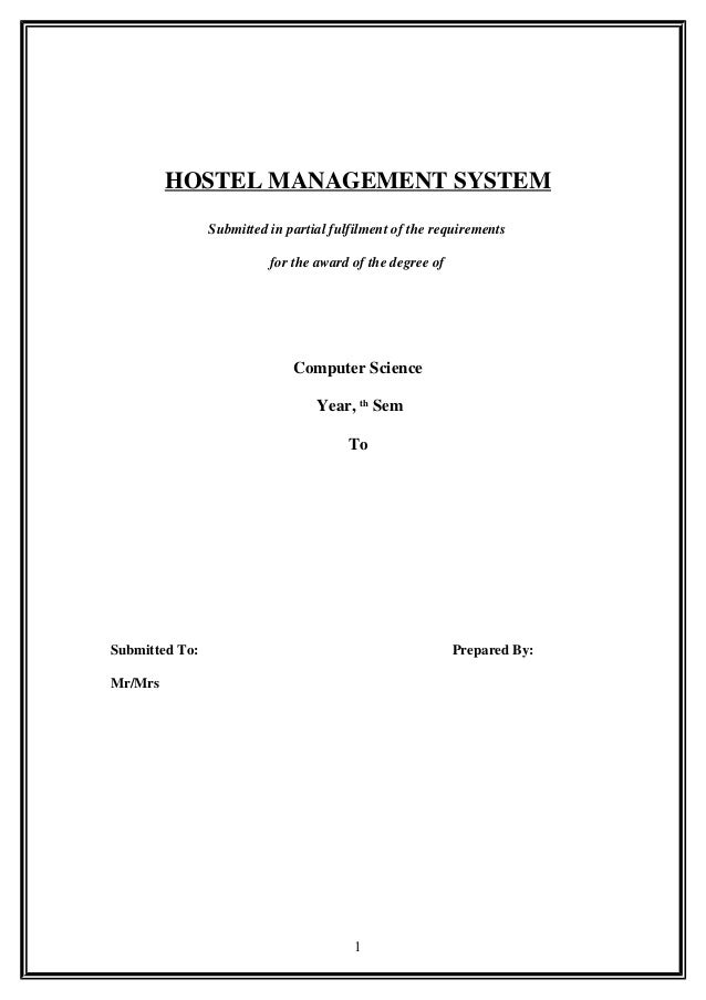 We've got a hostel management system which suits you perfectly