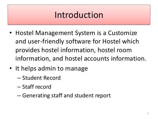 literature review on hostel management system pdf