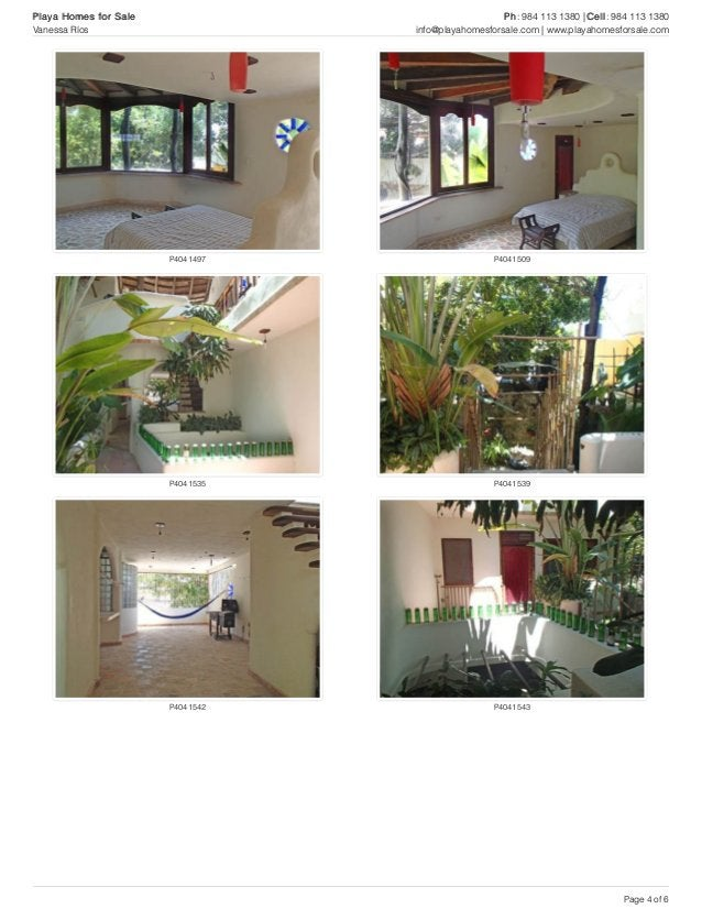 P4041497 P4041509 P4041535 P4041539 P4041542 P4041543 Playa Homes for Sale Ph: 984 113 1380 | Cell: 984 113 1380 Vanessa R...