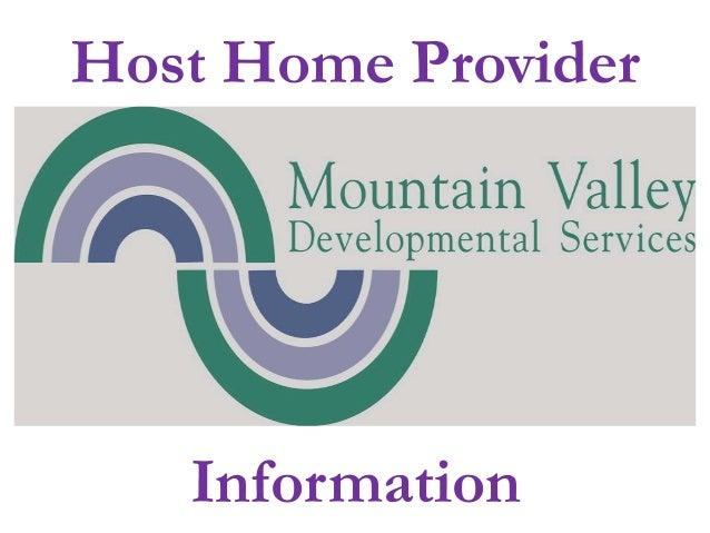 Host Home Provider Information